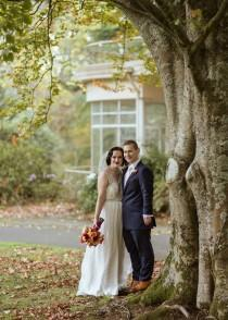 wedding photo - Autumnal Marybrooke Manor Wedding - Polka Dot Bride