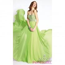 wedding photo - Long Strapless Open Back Formal Gown by Alyce - Brand Prom Dresses