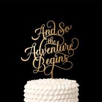 wedding photo - Wedding Cake Topper - And so the adventure begins - Classic Collection
