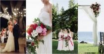 wedding photo - We LOVE this Romantic Fuchsia, Blush + Cream Beach Wedding!