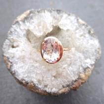 wedding photo - Oval Morganite Ring - Morganite Ring, Alternative Engagement Ring, Rose Gold Morganite Ring, Morganite Engagement, Modern Engagement Ring