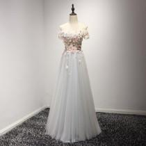 wedding photo - Quality to Measure 2017 Sexy Fashion Off Shoulder Garment Party Dress Hand Made Embroidery Girls Prom Dresses Bridal Gown Beach Wedding Shop