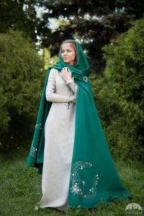"wedding photo - Medieval Wool Cloak ""Fairy Tale"""