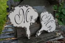 wedding photo - Mr and Mrs Sign. Paddle. Rustic Wedding. Chalkboard Sign. Photo Props. Save The Date Props. Photo Booth Props. Shabby Chic Wedding. Vintage.