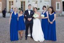 wedding photo - Royal blue Infinity Dress - floor length   wrap dress +55colors