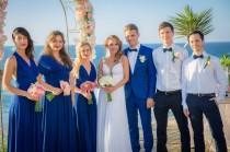 wedding photo - Royal blue Infinity Dress - floor length  long straps  wrap dress