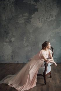 wedding photo - Blush pink wedding dress - Mirtselia