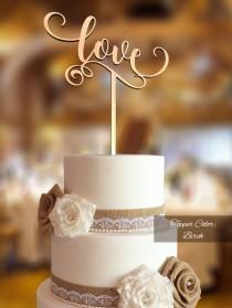 wedding photo - Love Cake Topper. Wedding Cake Topper. FNLV02. Rustic Cake Topper. Cake topper wedding. Love cake topper for wedding. Rustic topper.