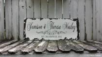 wedding photo - Custom Name Sign