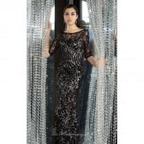 wedding photo - Black/Nude Laced Long Gown by Alyce Black Label - Color Your Classy Wardrobe