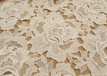 wedding photo - Gorgeous 3D Guipure Big Rose Lace Fabric for Bridal Dress, Bodices, Skirt, Shorts, Boleros, Craft Making 47 Inch Wide