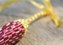wedding photo - Organic Lavender Wand, Mixed Colors, Burgundy and Yellow, Weaved Lavender Flowers, Natural Scent, Wedding Gift Made in Canada