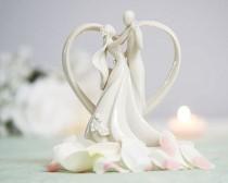 wedding photo - Stylized Dancing Wedding Cake Topper - 707515