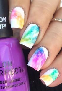 wedding photo - Rainbow Nail Art