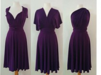 wedding photo - Plum purple infinity dress Bridesmaids dress  Convertible Dress