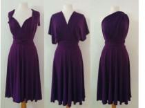 wedding photo - Plum purple infinity dress Bridesmaids dress  Convertible Dress