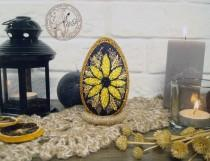 wedding photo - Easter Egg decorated with seeds - Easter - Easter eggs - Easter decor - Egg