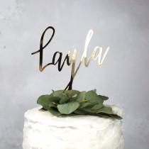 wedding photo - name cake topper - birthday cake topper - 1st birthday cake topper - 30th Cake topper - personalised cake topper - christening cake topper