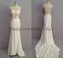 wedding photo - Ivory prom dress with applique,long prom dress,spandex evening dress,fashion bridesmaid dress,fashion prom dress,formal evening dress 2014