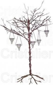 "wedding photo - Elegant Bronze 42"" Metal Tree"