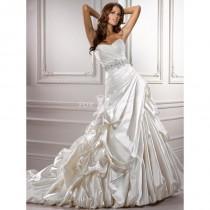 wedding photo - Schulterfreies Sweetheart Ausschnitt Satin Brautkleid mit plissierten Mieder - Festliche Kleider