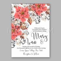 wedding photo - Wedding Invitation Floral Bridal Shower Invitation Wreath with pink flowers Anemone, Peony - Unique vector illustrations, christmas cards, wedding invitations, images and photos by Ivan Negin