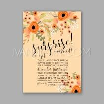 wedding photo - Wedding invitation printable template with floral wreath or bouquet of rose flower and daisy Bridal - Unique vector illustrations, christmas cards, wedding invitations, images and photos by Ivan Negin