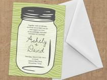 wedding photo - Invitations - Mason Jar - DIY Printable