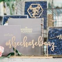 """wedding photo - Personalized Hashtag Laser Cut Name Sign - (ONE) 15"""" x 6"""" Custom Wood Wedding Sign - Event Signage - Photo Booth Sign - Welcome Table Sign"""