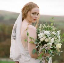wedding photo - Jacqueline Lace Scallop Edge Veil