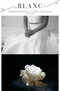 wedding photo - A Modern Monochromatic Meets Floral Weddings Styled Shoot
