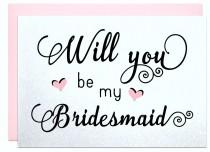 wedding photo - Will you be my bridesmaid wedding card for bridal shower announcement maid of honor flower girl wedding invitation bridesmaid cards