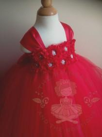 wedding photo - red flower girl dress, flower girl dress red, red tutu dress, red tulle dress, red girls dress, girls dresses, girls birthday outfit