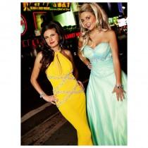 wedding photo - Exclusively Designed for The Cool Book 9913 Blue/Lime,Hot Pink,Red/Yellow Dress - The Unique Prom Store