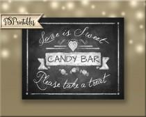 wedding photo - Love is Sweet Chalkboard Candy Bar sign - 5x7, 8x10 or 11 x 14 - instant download digital file - Rustic Collection