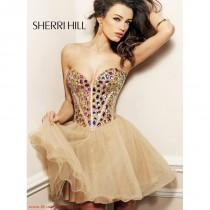 wedding photo - Sherri Hill 1530 Short Jewled Homecoming Dress - Crazy Sale Bridal Dresses