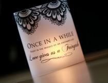 wedding photo - Once Upon a Time luminary, Fairytale Decor Luminary, Wedding Luminaries, Black and White Wedding, Wedding Centerpieces- set of 10 Luminaries