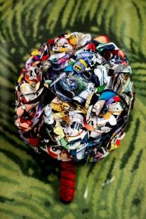 wedding photo - Comic Book Bouquet