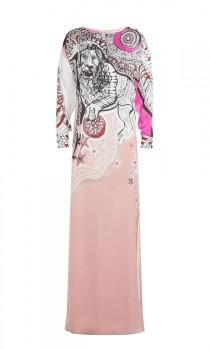 wedding photo - Emilio Pucci Pale Pink Printed Silk Maxi Dress