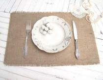 wedding photo - Burlap Wedding Table Setting Rustic Placemat Table Topper Hessian placemat Burlap Table Runner Rustic Overlay Farmhouse table decor - $4.24 USD