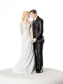 wedding photo - Wedding Bliss Cake Topper Figurine  - Custom Painted Hair Color Available -707564