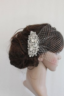 wedding photo - Wedding veil birdcage bridal birdcage veil wedding birdcage veil wedding blusher veil with blusher wedding fascinators wedding headpiece