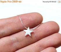 wedding photo - Spring Sale Opal Star Necklace, Opal Necklace, Opal Silver Necklace, Opal Jewelry, White Opal Necklace, Blue Star Opal Necklace, Simple Neck