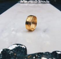 wedding photo - Textured Band, Rustic Ring, RINGCRUSH, Gold Wedding Band, Unique Wedding Band, Textured Gold Ring, Organic Gold Ring, Hammered Gold Ring