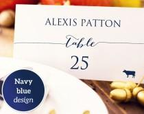 wedding photo - Wedding Place Card with Meal Icons Template, DIY Editable Card, Food Icon, Seating Card, Menu Icons, Wedding Printable Escort Cards,  - $8.00 USD