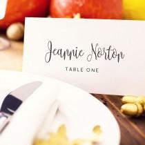 wedding photo - Wedding Place Card Template, Editable Instant Download, DIY Bride, Custom Personalized Seating Card, Escort Card, Wedding Printable,  - $6.50 USD