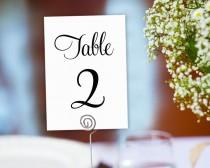 wedding photo - Table Numbers Printable 1-40 Template In TWO Sizes, Wedding Table Seating Template, Table Number Cards, Wedding Printable,  - $6.50 USD
