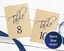 wedding photo - Table Numbers Printable 1-40 Template In TWO Sizes, Wedding Table Seating Template, Table Number Cards, Editable Wedding Printable,  - $6.50 USD