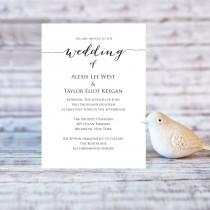 wedding photo - Wedding Invitation Template, Editable Wedding Template, DIY Wedding Printable, Personalized Invitation, Rustic Wedding Invitation  - $6.50 USD