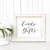 wedding photo - Card and Gifts Sign in TWO Sizes, Wedding Sign Instant Download, DIY Sign Printable, Wedding Reception Sign, Cards & Gifts Printable,  - $5.00 USD